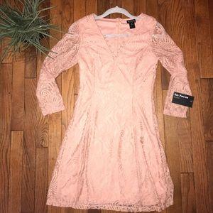 Enfocus Studio Pink Lace Dress